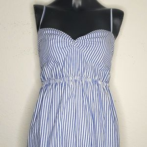 J. Crew Striped Spaghetti Strap Dress Size 4
